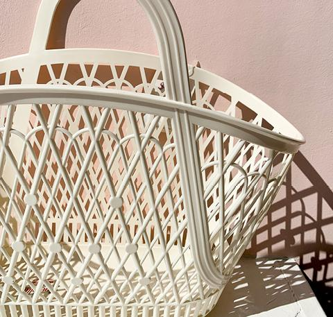 Betty basket [Cream]