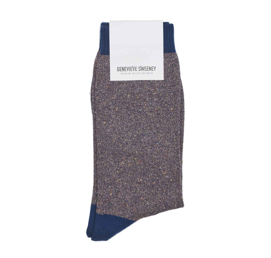 Solline silk tweed sock [Purple] - The Pantry Underwear
