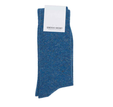 Wool Linen Blue Melange sock