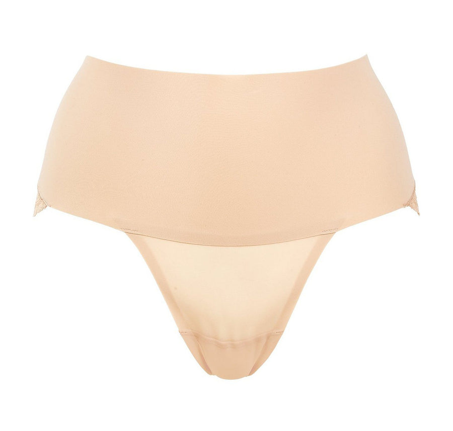 Shapewear lace back brief [Beige] Shape Spanx extra-small