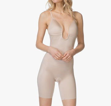 Low back and front bodysuit [Beige] Shape Spanx extra-small