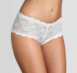 Scalloped lace band brief White Triumph