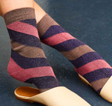 Serora sock [Purple Stripe] - The Pantry Underwear