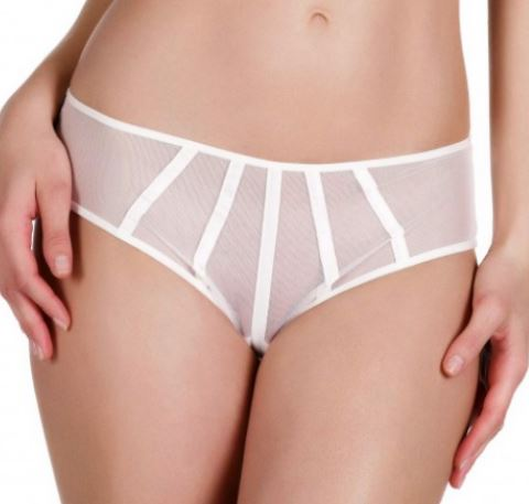 Satin contour shorty [Ivory] Bottoms Implicite