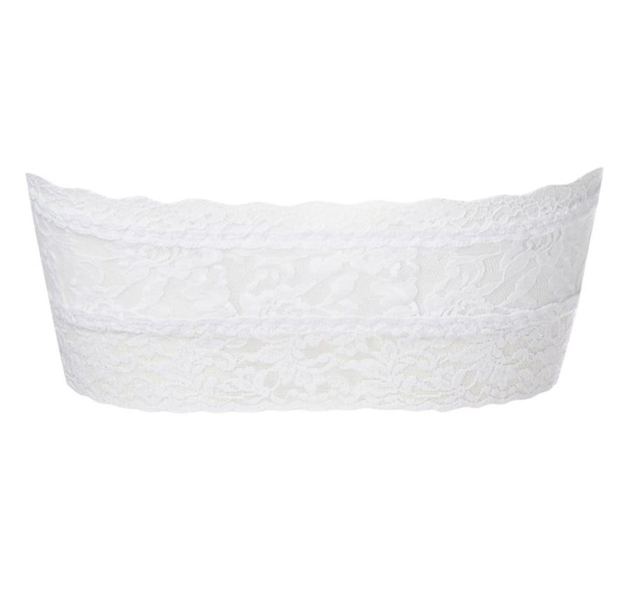 Stretch lace bandeau [White] - The Pantry Underwear