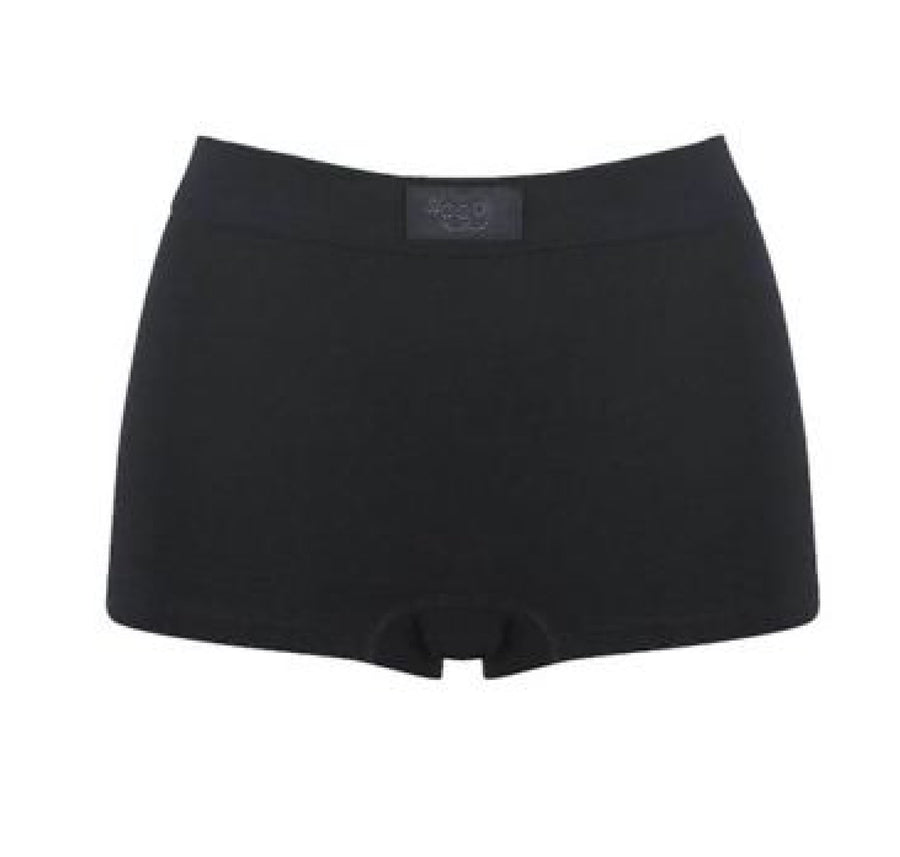 Soft cotton band short [Black] - The Pantry Underwear