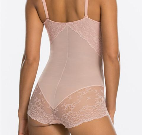 Shapewear lace body [Rose] - The Pantry Underwear