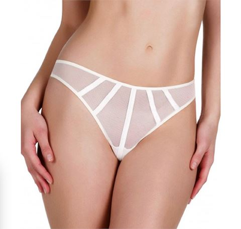 Satin contour thong [Ivory] Bottoms Implicite