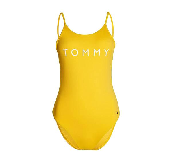 Scoop back branded one piece [Yellow] Swim Tommy Hilfiger extra-small