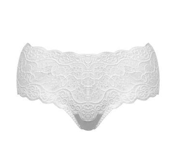 Scalloped lace band brief [White] - The Pantry Underwear