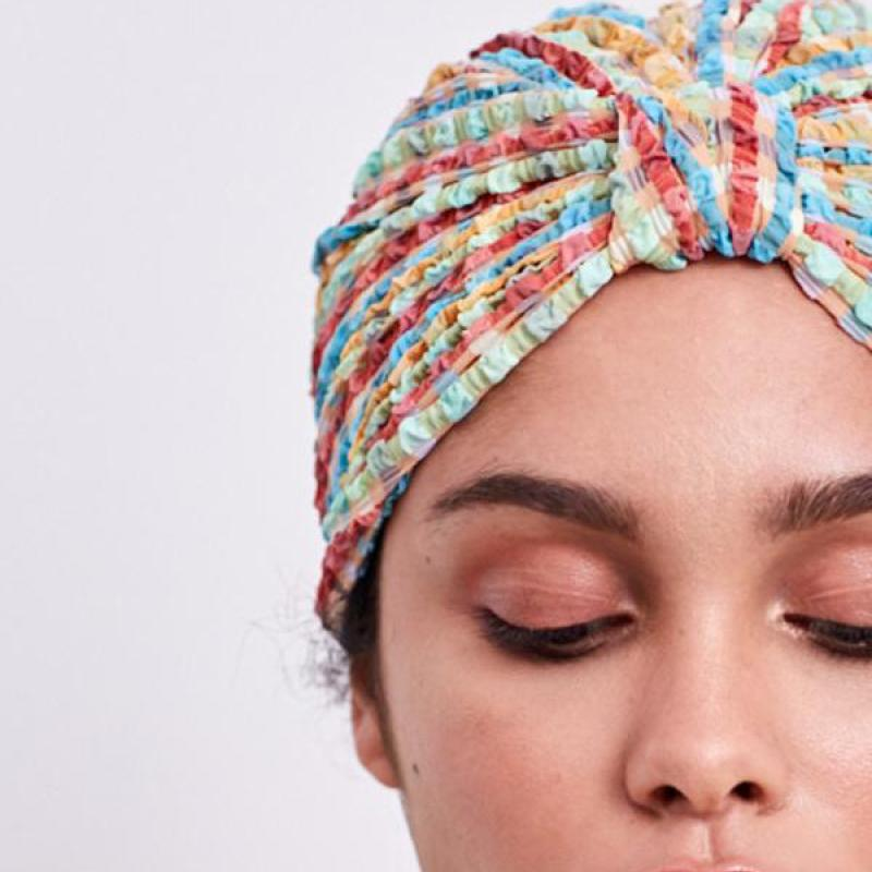Gingham waffle turban headpiece [Yellow Gingham] Swim Lilliput & Felix