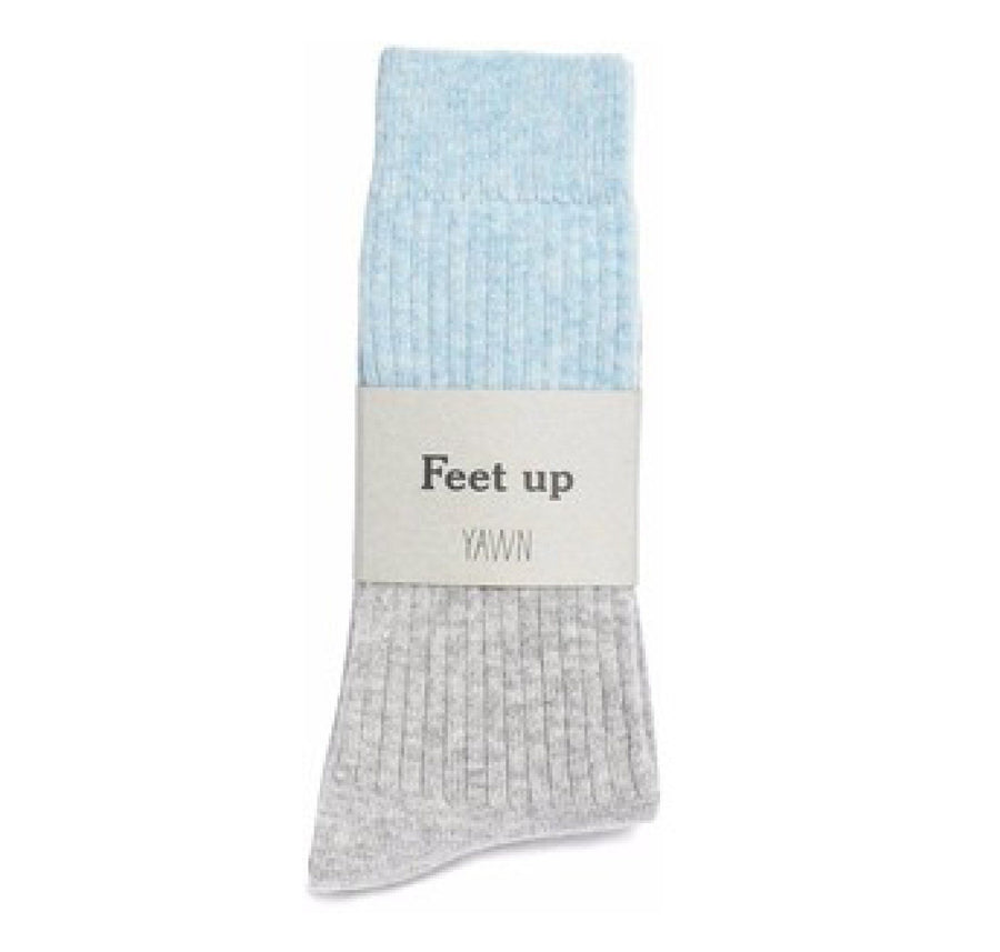 Cashmere sleep socks [Grey & Blue] - The Pantry Underwear