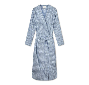 Lightweight cotton dressing gown [Pineapple Skies] - The Pantry Underwear
