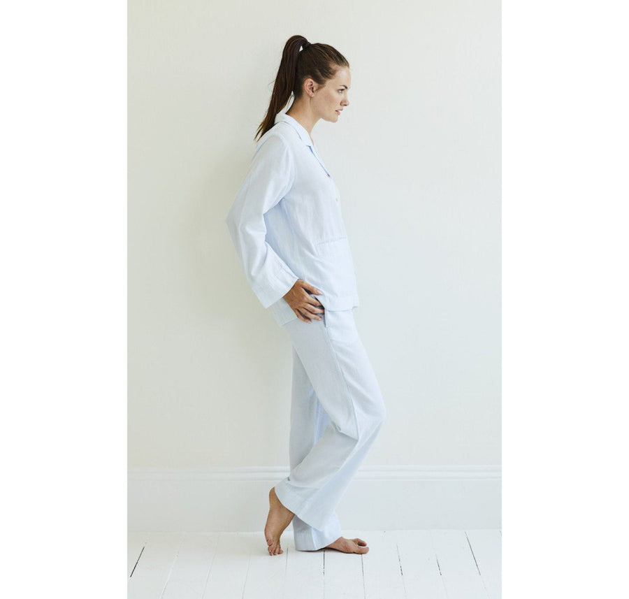 Soft cotton chambray pyjamas [Baby Blue] - The Pantry Underwear
