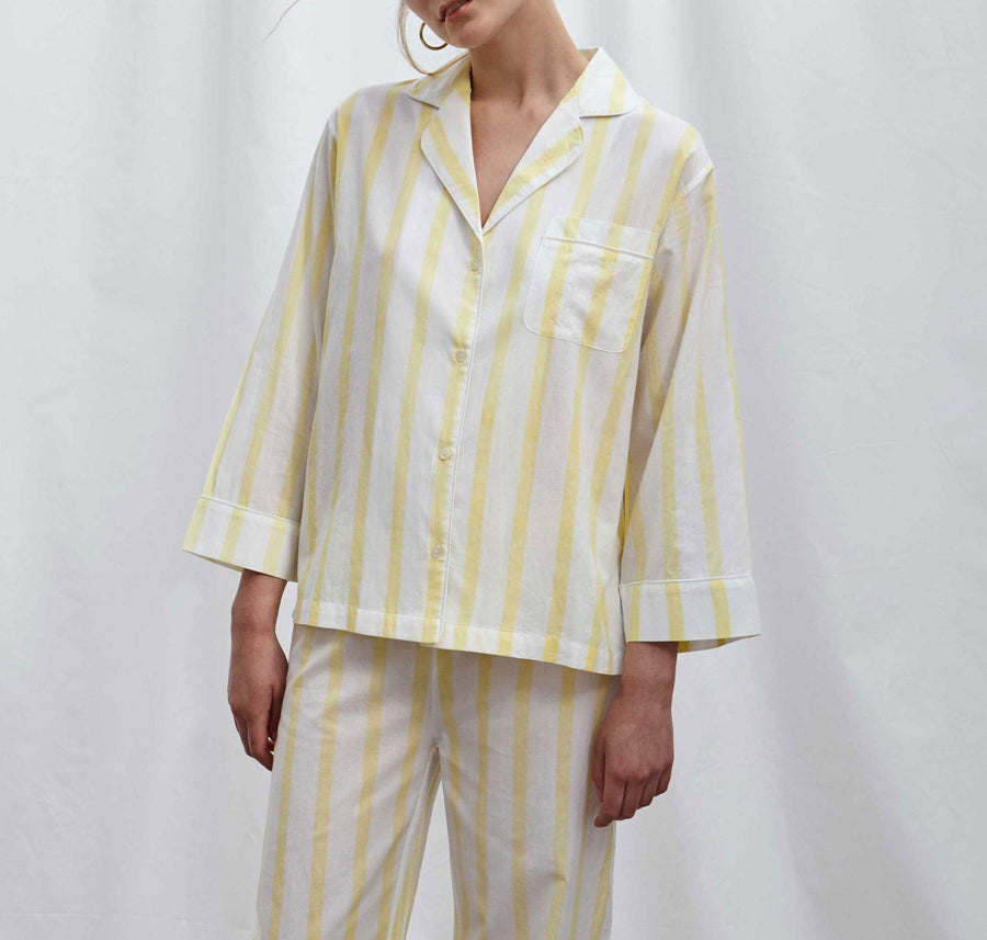 Yellow Stripe Pyjama Set