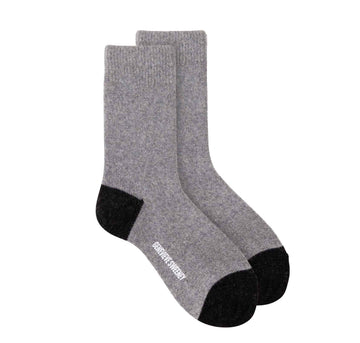 Sparkly merino cashmere lounge sock [Grey / Charcoal] Accessories Genevieve Sweeney