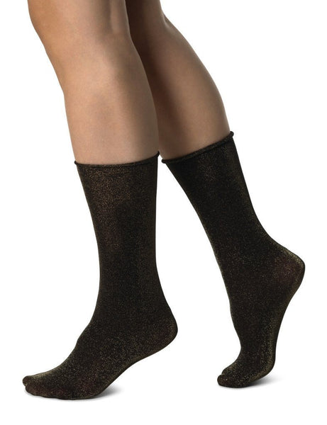 Lisa Lurex socks [Black/Gold]