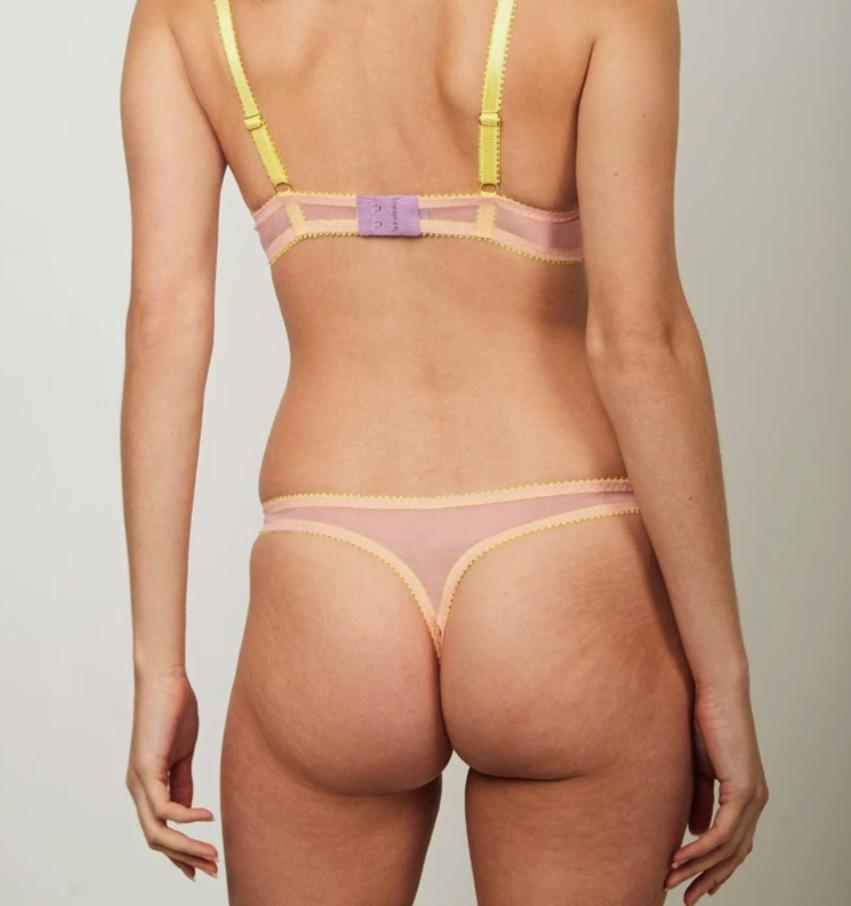Baby pink mesh & lemon thong Bottoms Dora Larsen