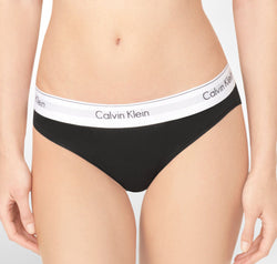 Calvin Klein Cotton branded band brief Black