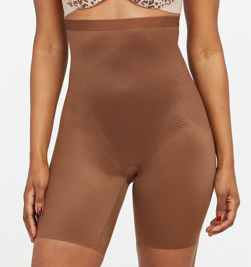 High invisible control short [Chestnut Brown] Shape Spanx extra-small