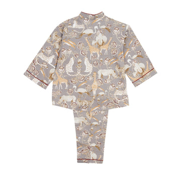 Grey pattern pyjamas