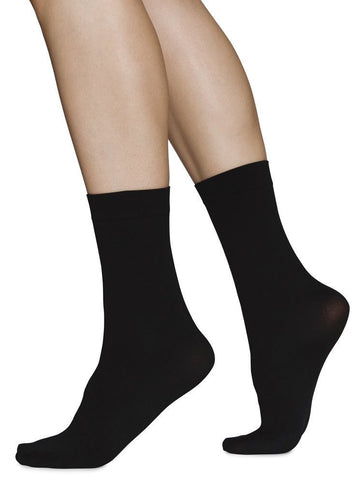 Ingrid ankle sock 60 den [Black] - The Pantry Underwear