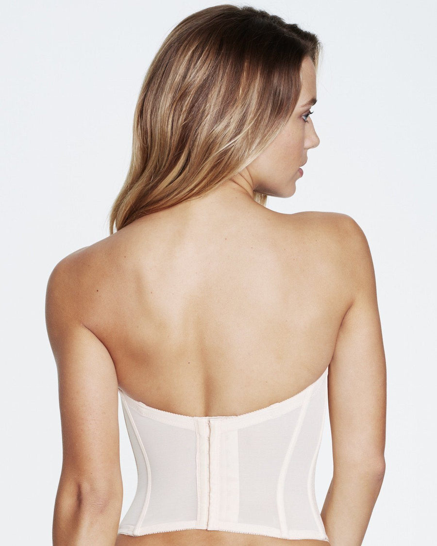 Smooth lower back bustier [Beige]