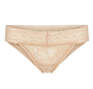 Branded tab stretch bikini [Beige] - The Pantry Underwear