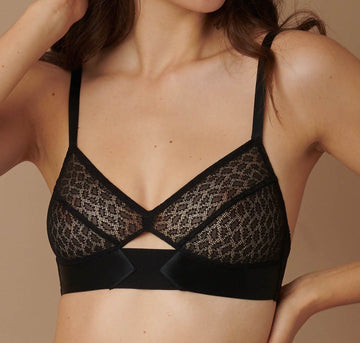 soft cup bra black