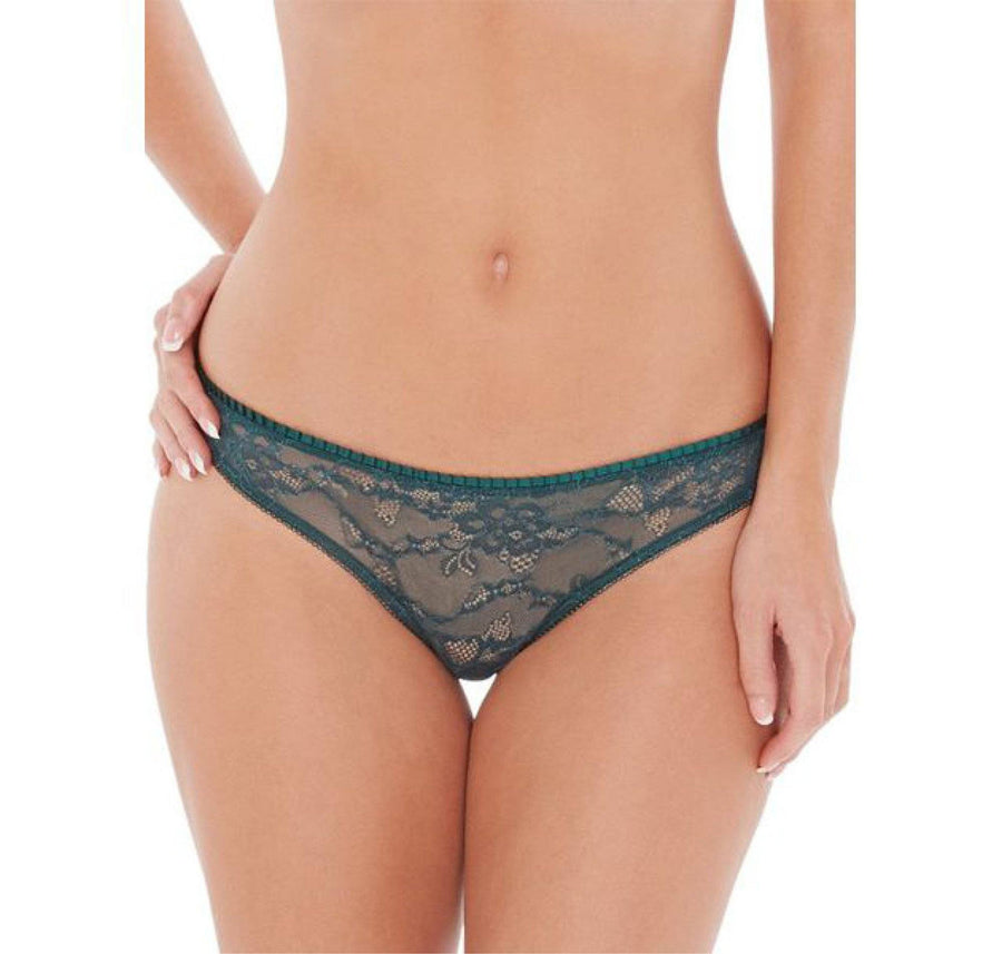 Emerald lace brief [Green] - The Pantry Underwear