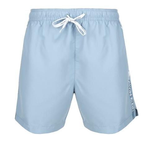 Logo tape swim short [Blue] - The Pantry Underwear