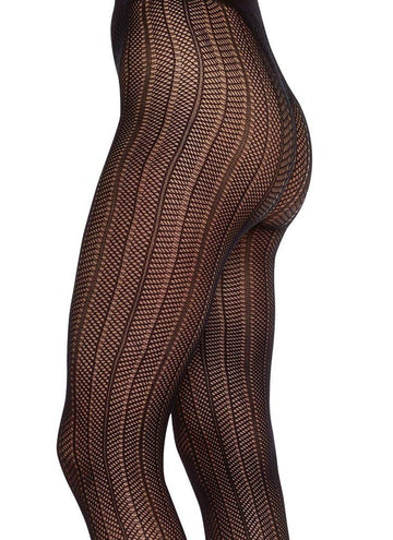 Astrid fishnet tights [Black] Accessories Swedish Stockings small