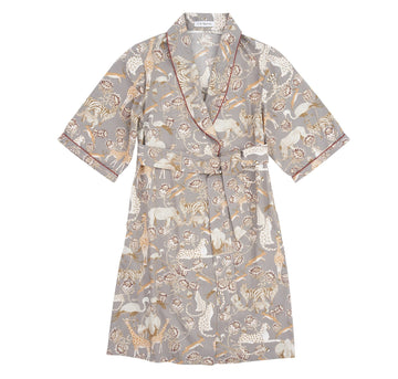 Safari dressing gown