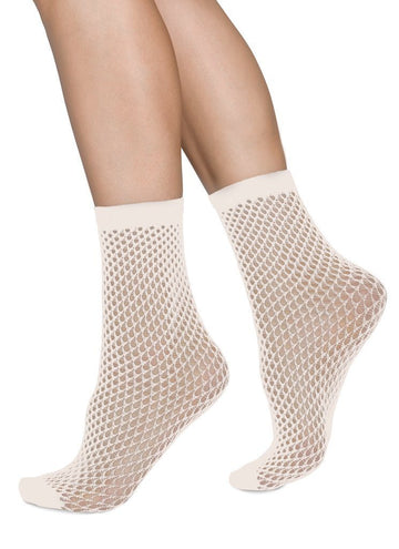 Vera net ankle sock [Ivory] Accessories Swedish Stockings