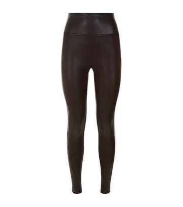 Faux leather shape legging [Black] - The Pantry Underwear
