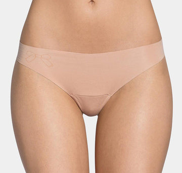 Microfibre invisible thong [Beige] - The Pantry Underwear