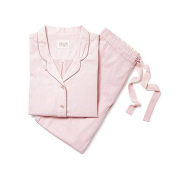Soft cotton chambray pyjamas [Baby Pink] - The Pantry Underwear