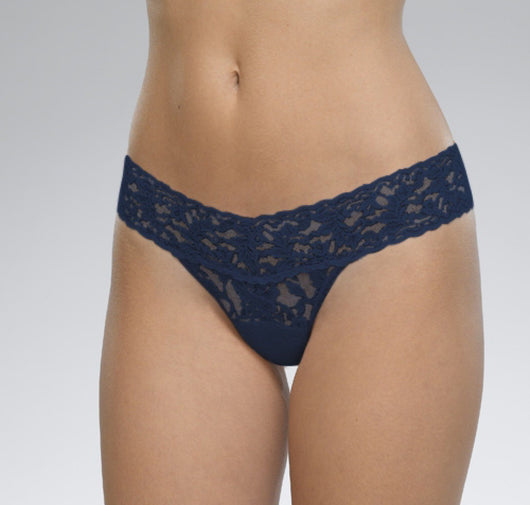 Stretch lace thong Navy hanky panky
