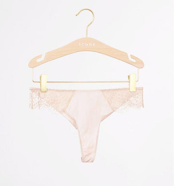 Scalloped edge tanga [Ivory] Bottoms Icone Lingerie