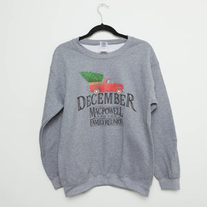 Mac Powell and the Family Reunion's December Crewneck Sweatshirt in Gray.