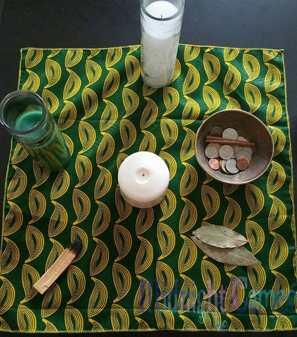 Green and Yellow Altar Cloth