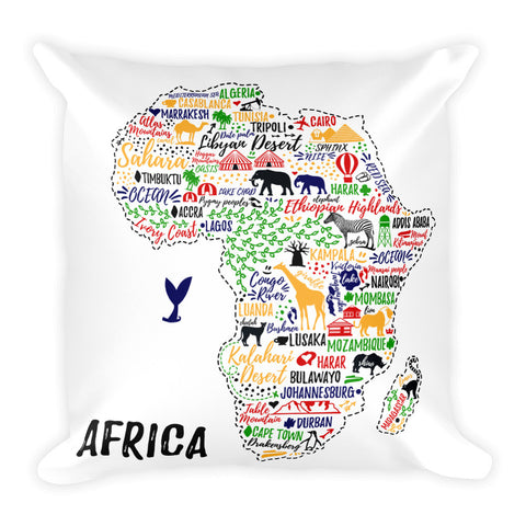 African Typography Pillow