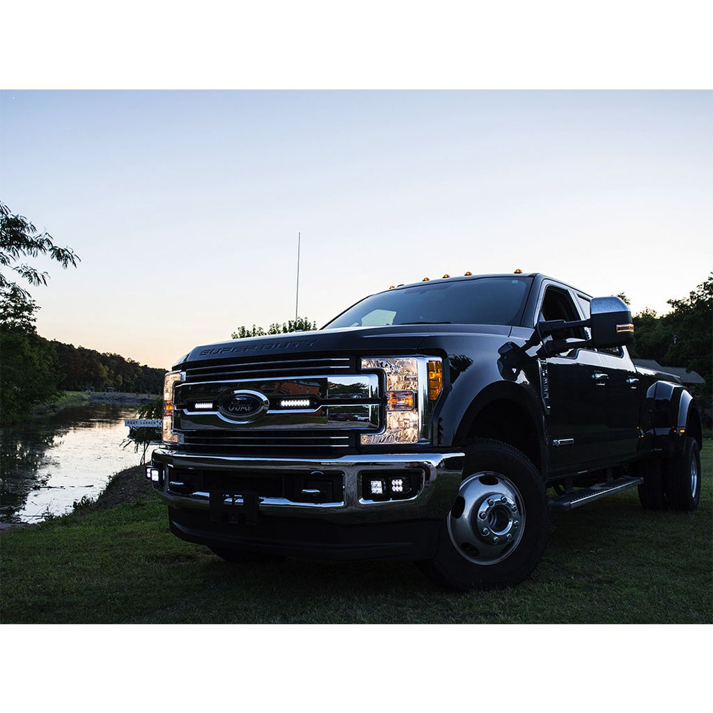 Ford Super Duty featuring RIGID Stealth Grille Kit