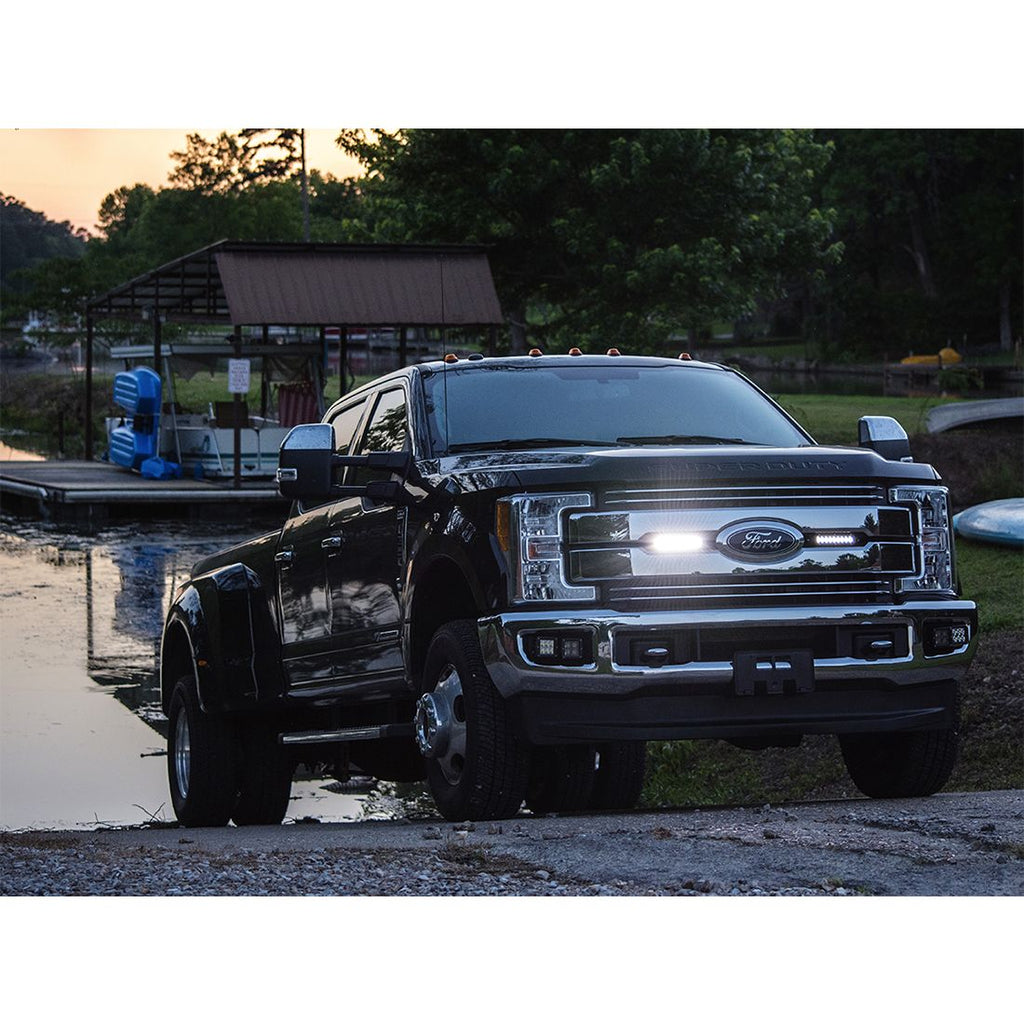 2017-2018 Ford Super Duty featuring  RIGID Stealth Grille Kit 6 Inch SR-Series