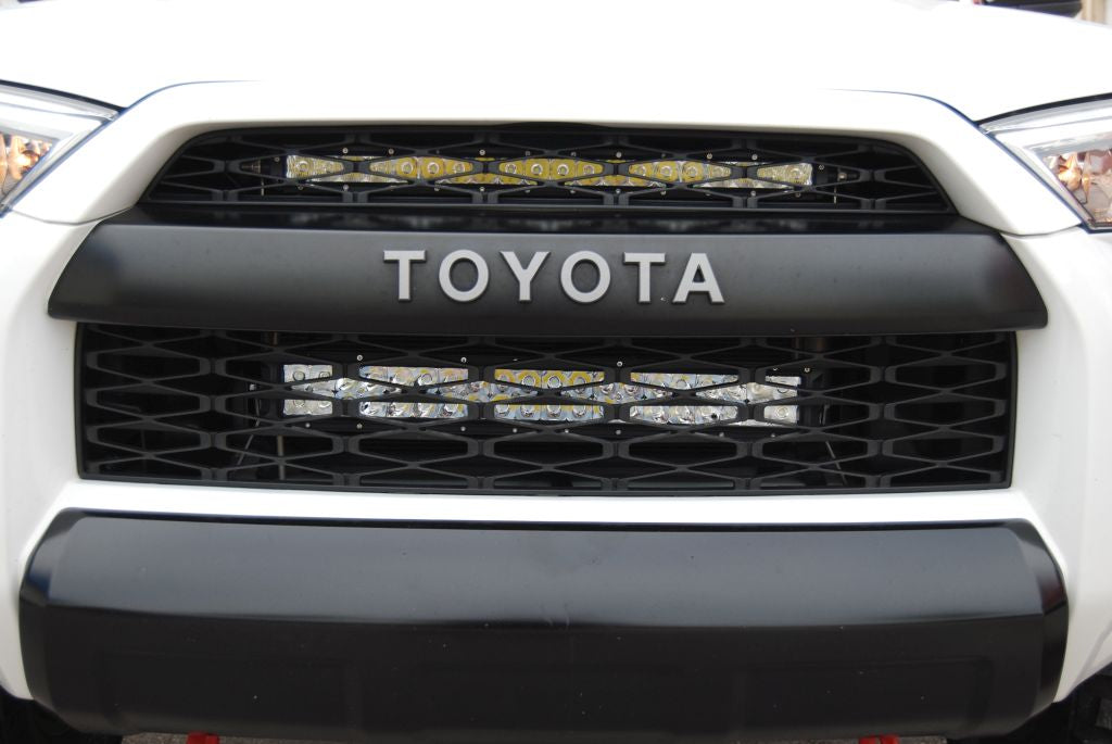 Toyota 4Runner, Upper Grille LED Light Bar Kit, Close Up