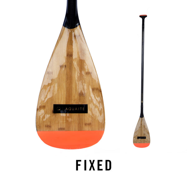 Aqua Pro: Carbon + Bamboo SUP Paddle - Fixed