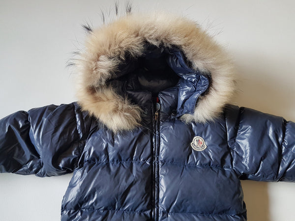 (2Y/92) Moncler blue snow suit