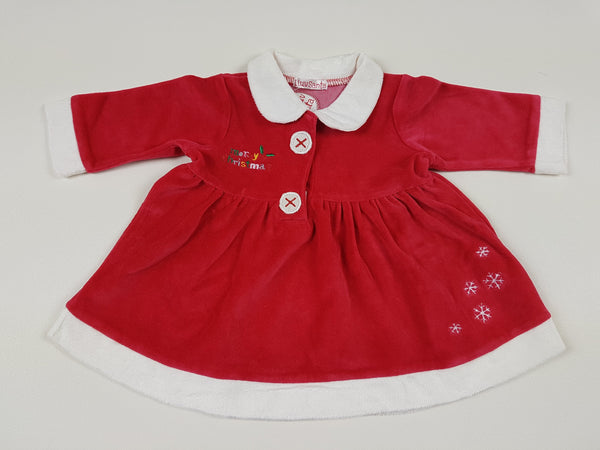 (12-18m) Santas Little Helper velour christmas top  *NEW