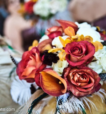 Fall Wedding Colors with Blue
