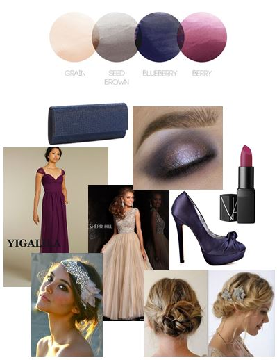 Berry Tones | Color Story | Prom Inspiration Board